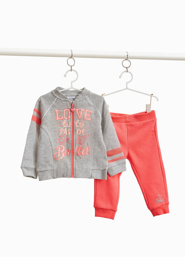 Cotton and viscose sweatshirt with lettering
