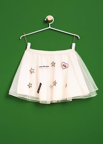 Gonna in tulle con patch