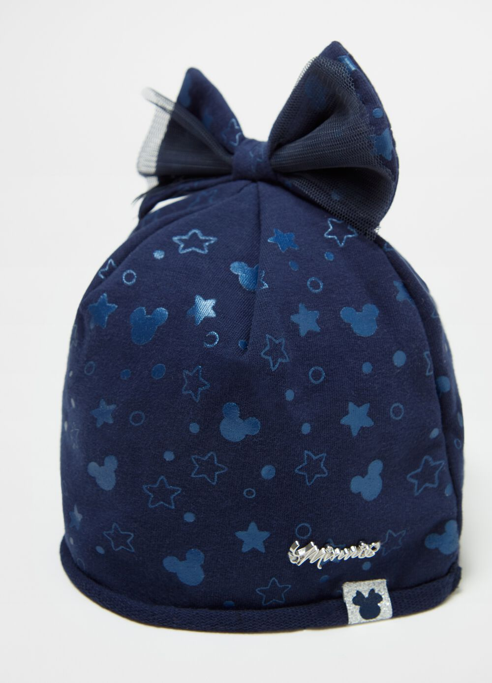 Organic cotton hat with Disney Minnie Mouse pattern