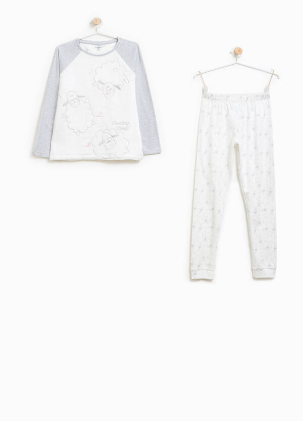 Pyjamas with embroidery and sheep pattern | OVS