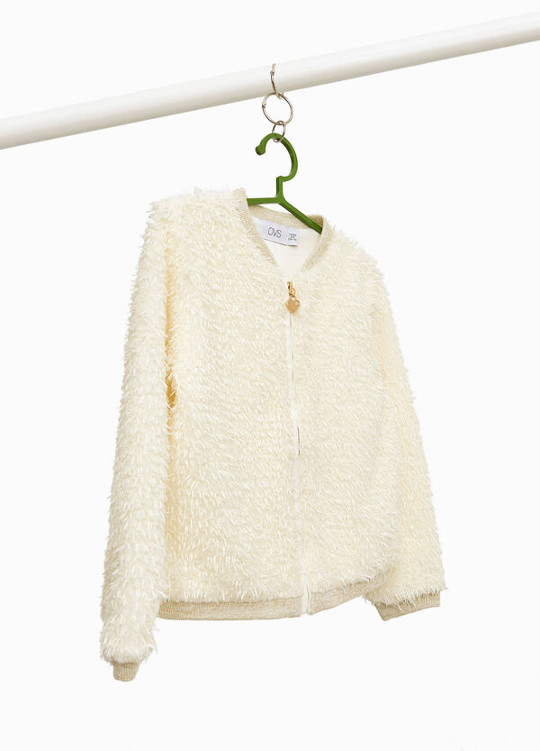 Frayed sweatshirt with lurex