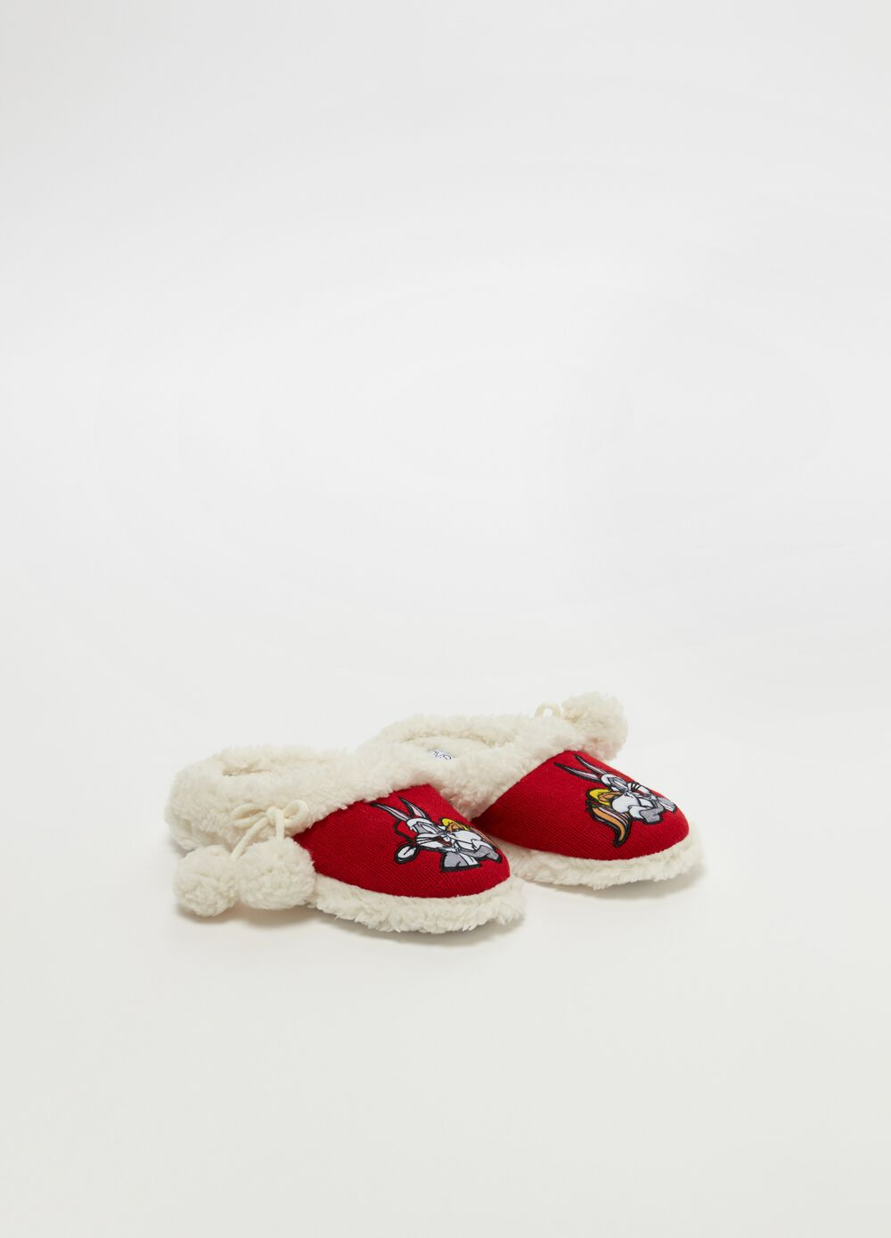 Warner Bros slippers with faux fur