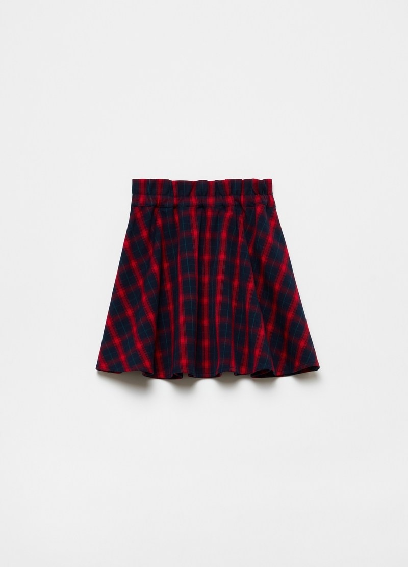 Pleated skirt with check pattern image number null