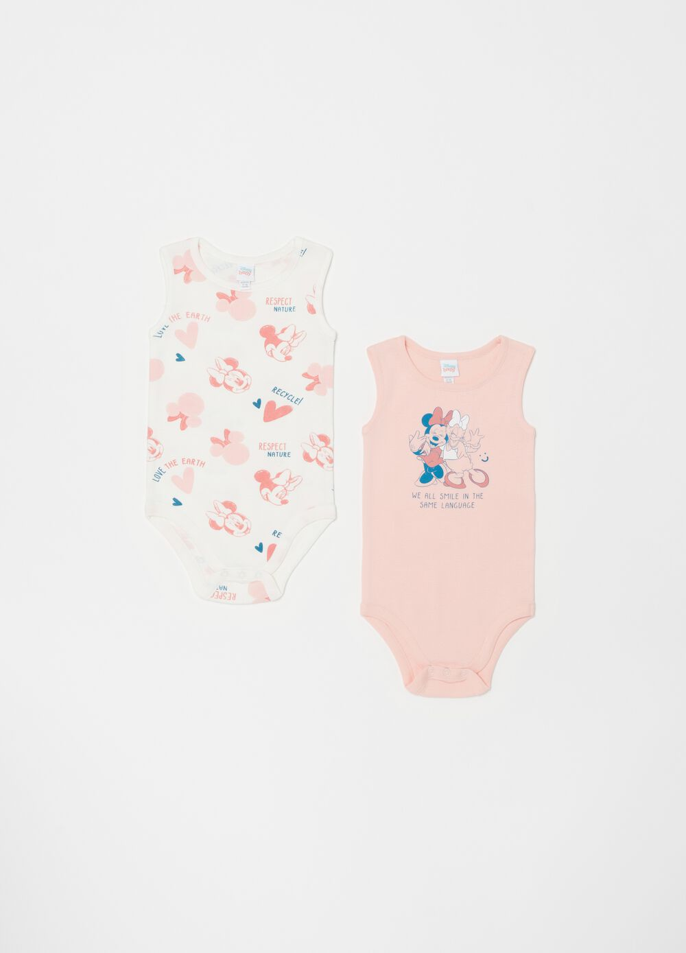Two-pack Disney Baby Minnie Mouse bodysuits