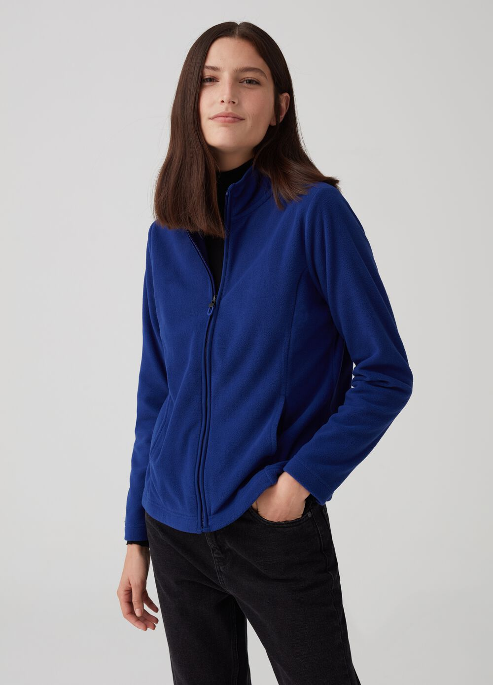 Full-zip sustainable fleece