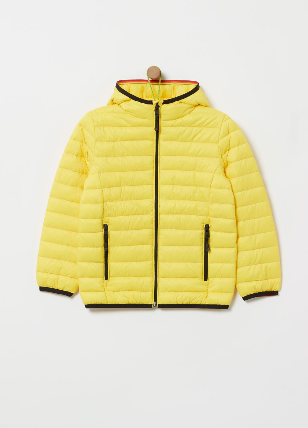 Ultra light quilted jacket with pockets