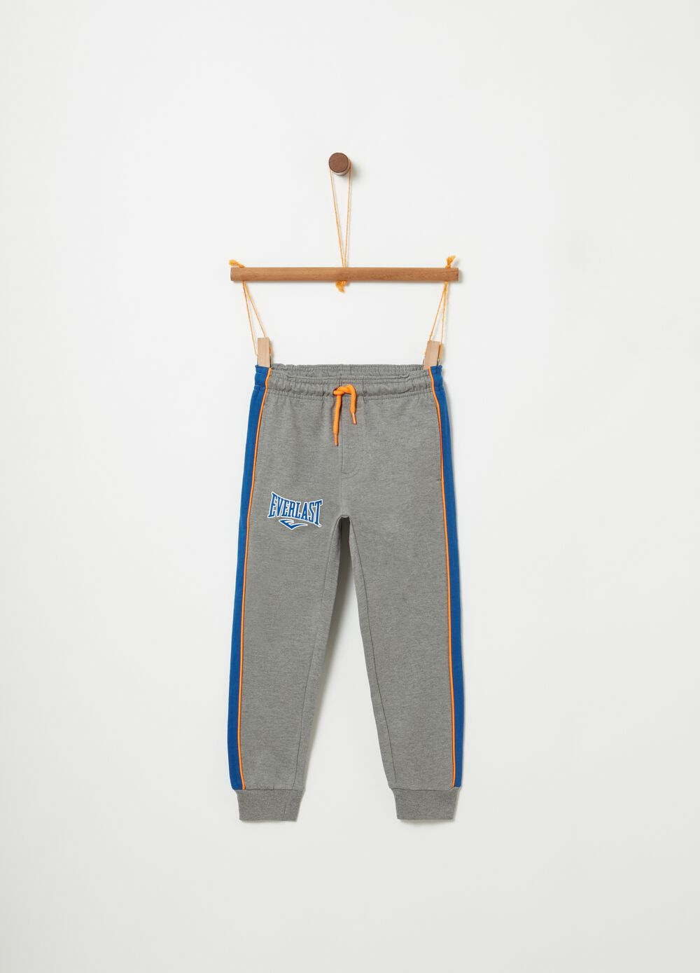Two-tone trousers with Everlast print