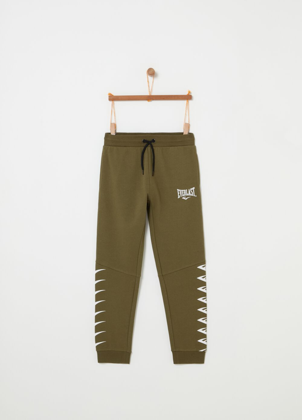 Fleece trousers with Everlast print