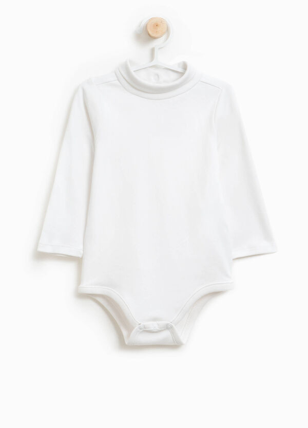 100% cotton bodysuit with high neck | OVS