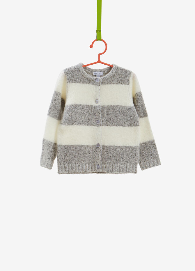 Striped knitted stretch cardigan