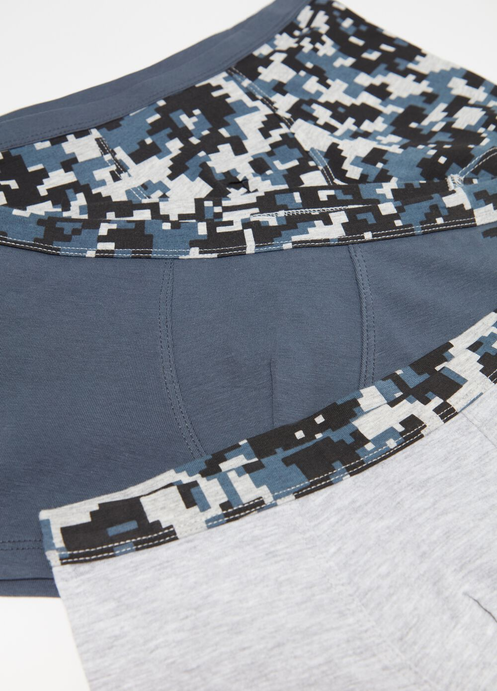 Three-pack biocotton boxers with pattern