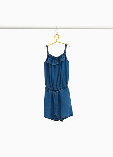 Sleeveless lyocell pinafore with embroidery