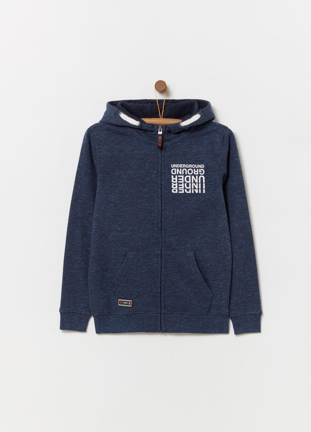 Heavy sweatshirt with pouch pocket