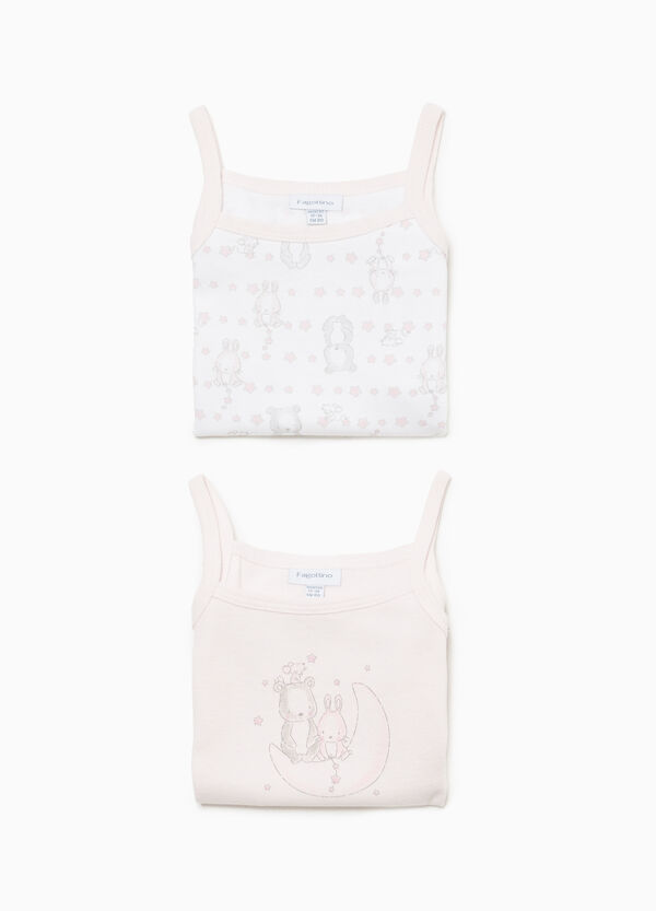 Two-pack sleeveless bodysuits with animals