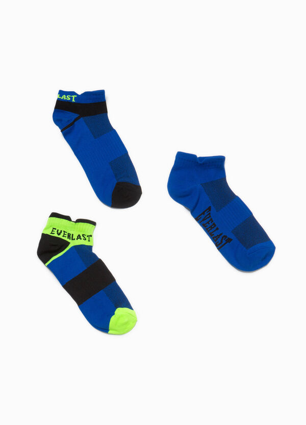Three-pair pack solid colour and striped stretch socks