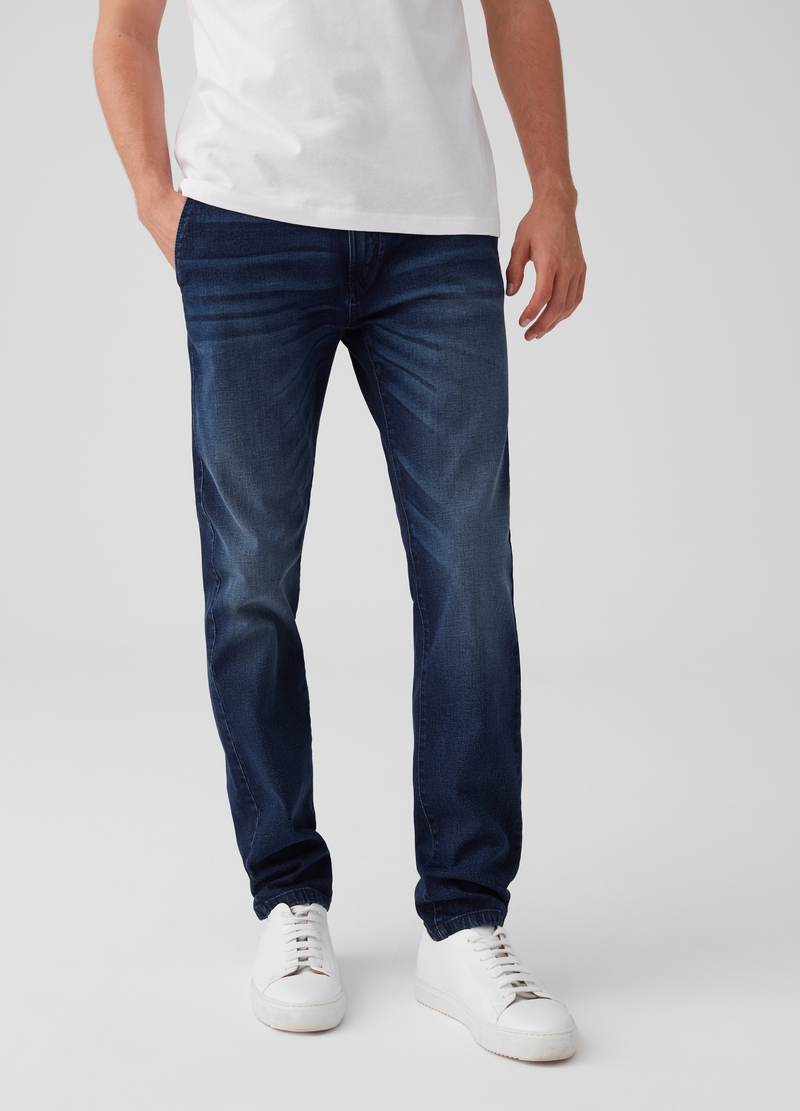 Stretch slim-fit chino jeans image number null