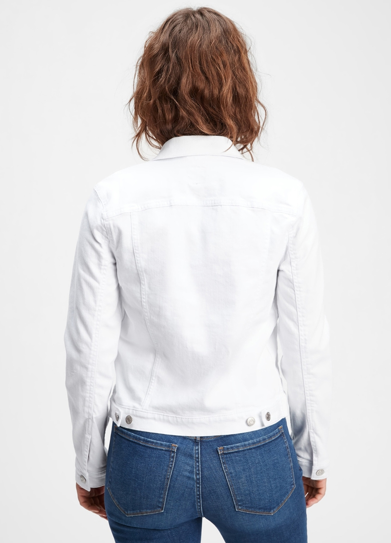 GAP crop denim jacket image number null