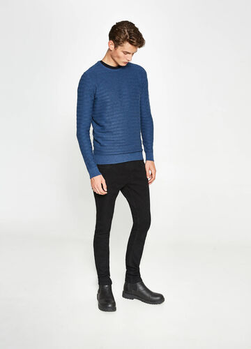Knitted stretch pullover