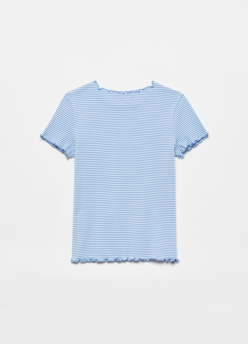 Cotton T-shirt with stripes image number null