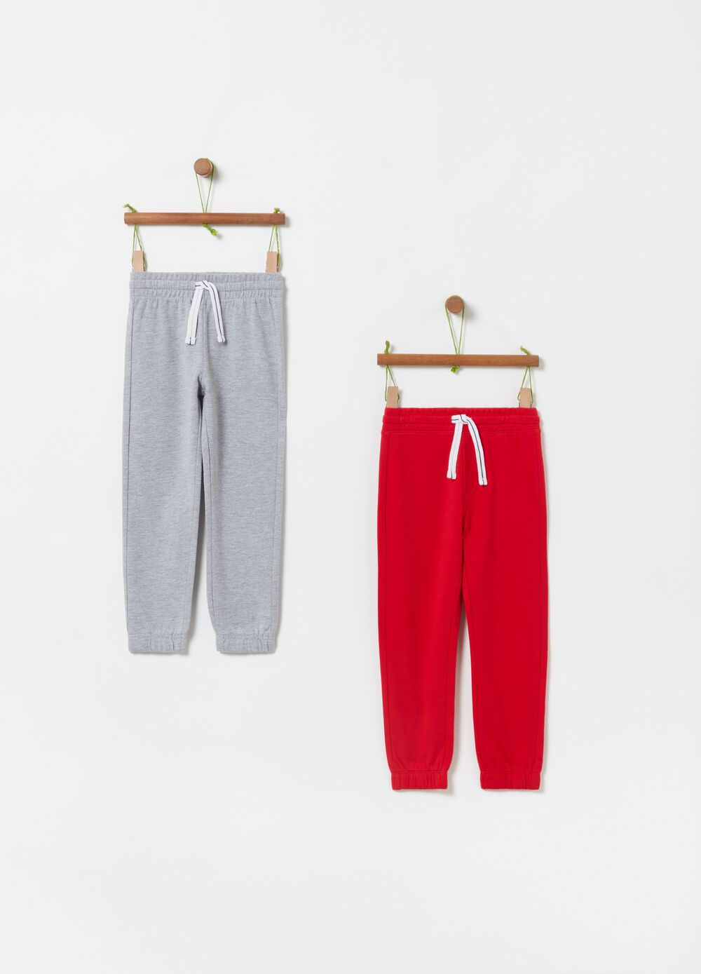 Two-pack of French terry joggers