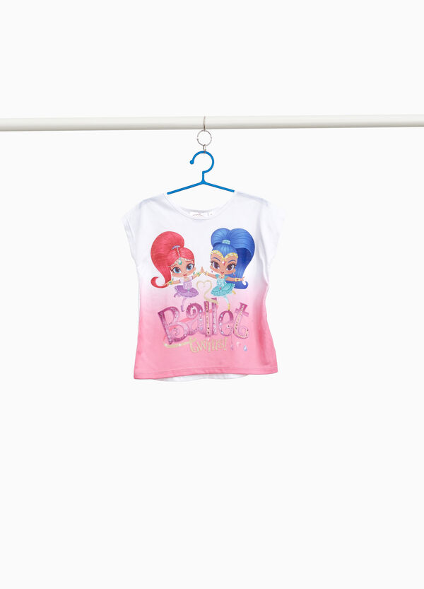 Shimmer And Shine stretch T-shirt with diamantés