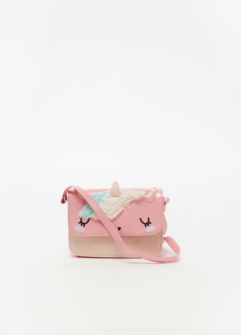 Shoulder bag with glitter and unicorn