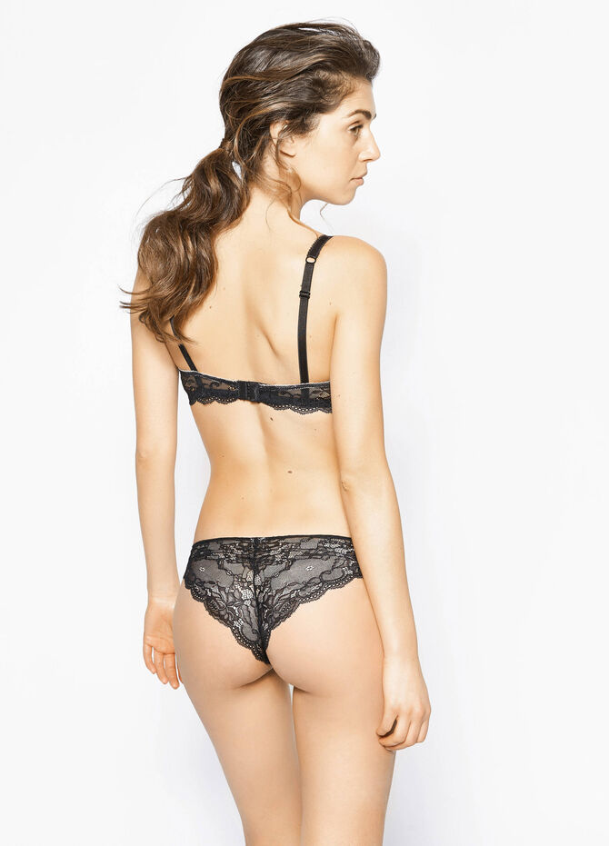 Stretch Brazilian cut briefs with lace back