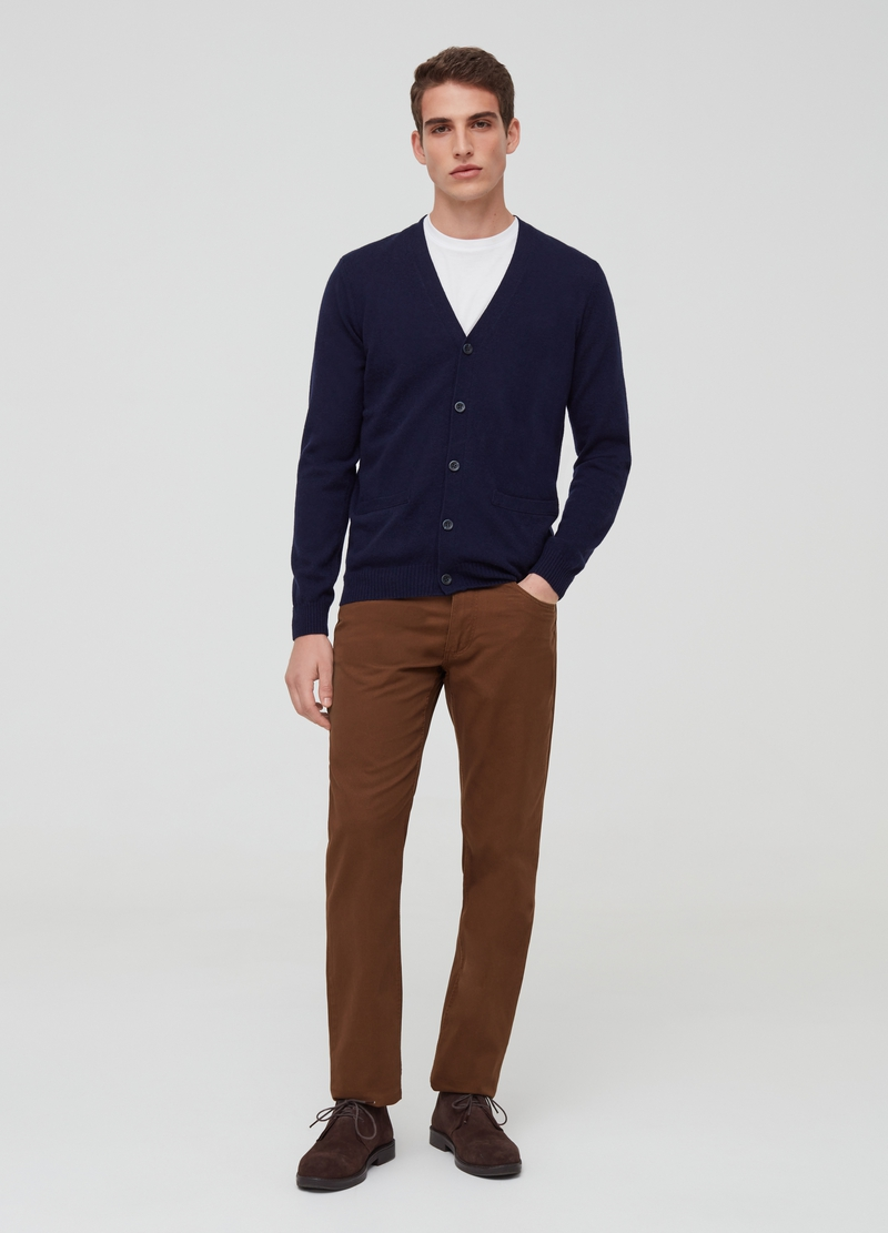 PIOMBO lambswool cardigan with V neck image number null