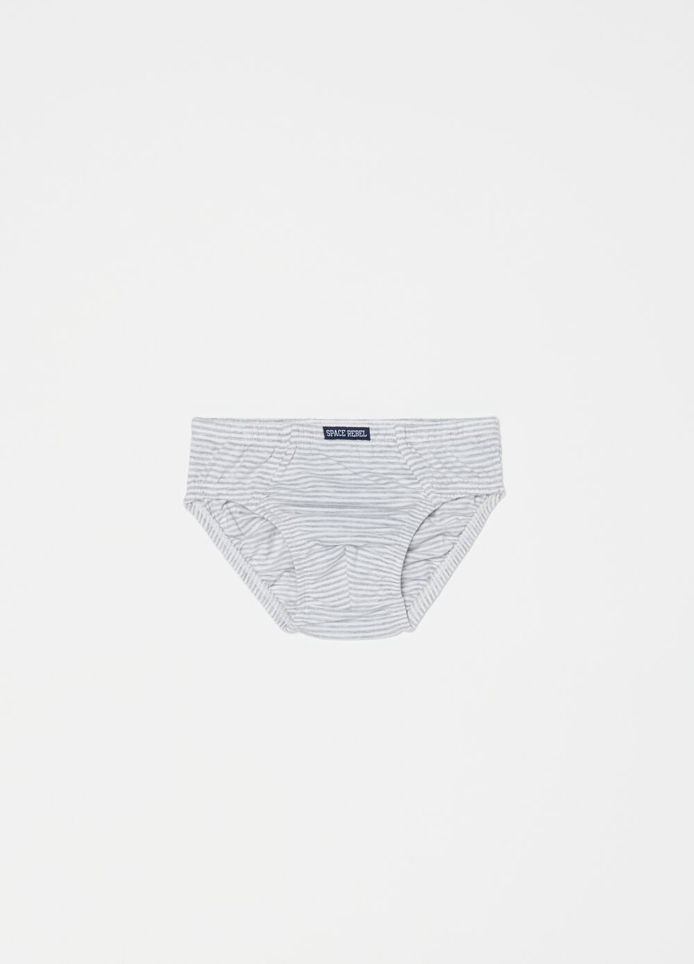 Organic cotton and viscose briefs with pattern