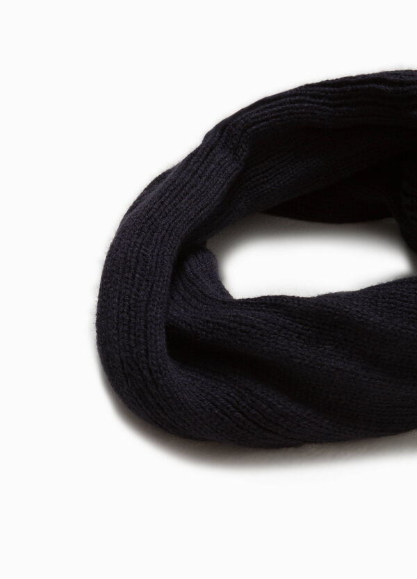 Neck warmer with knitted motif | OVS