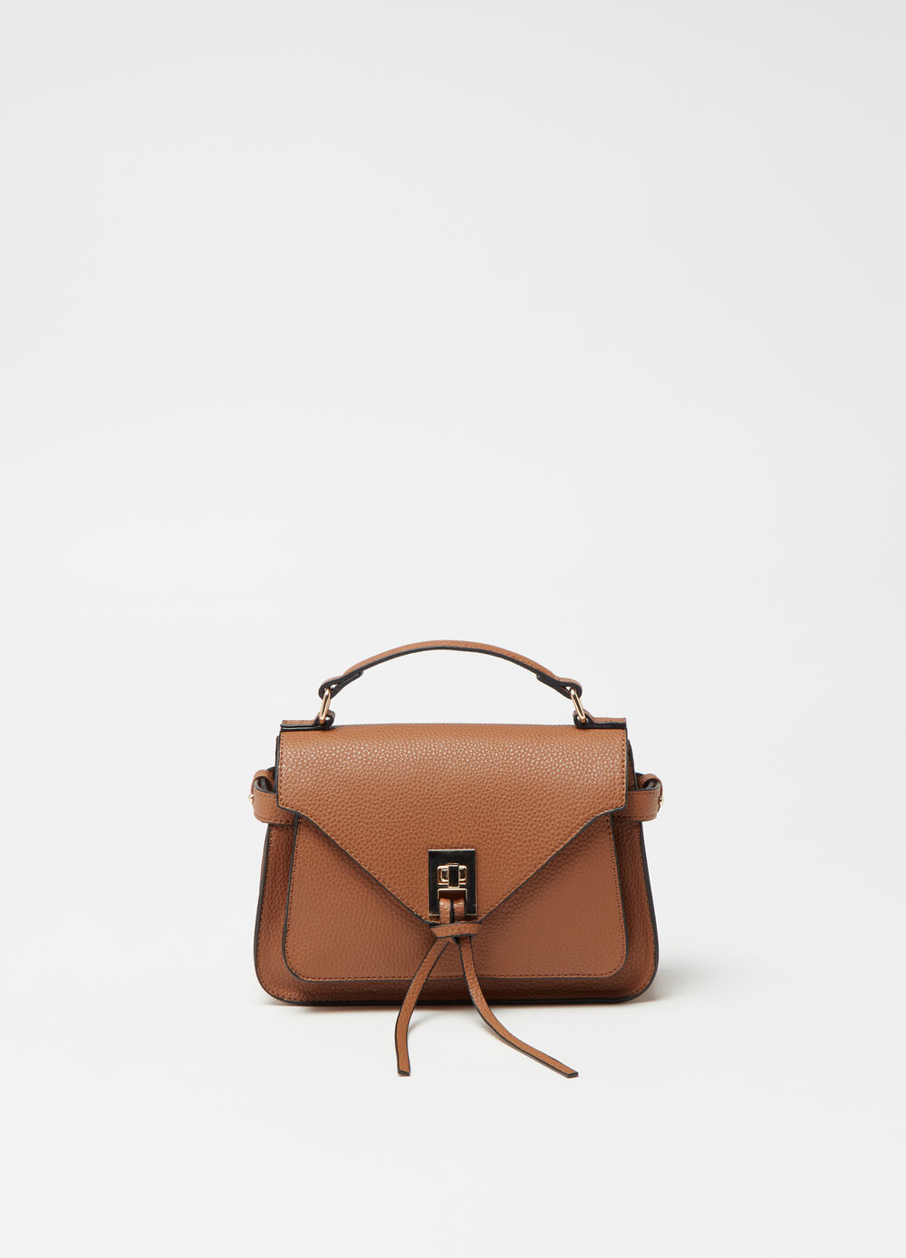 Textured-effect city bag