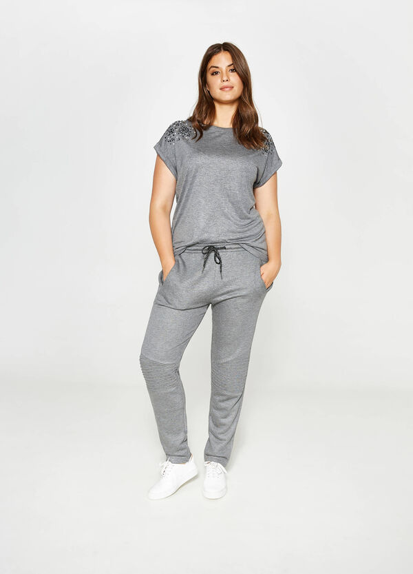 Curvy joggers with stitching   OVS