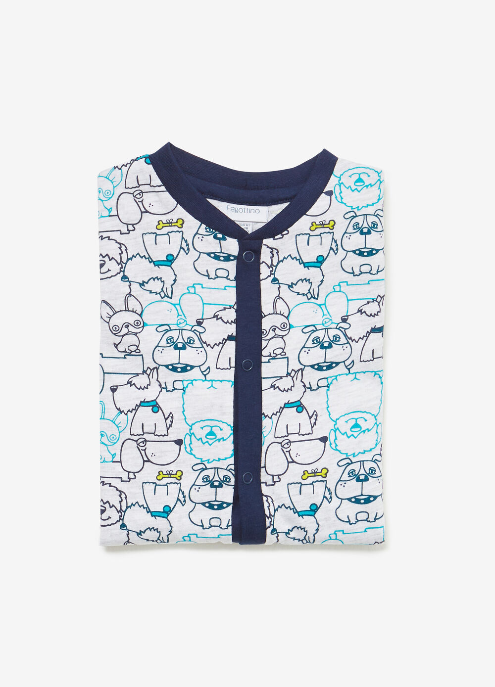 Cotton and viscose puppy sleepsuit