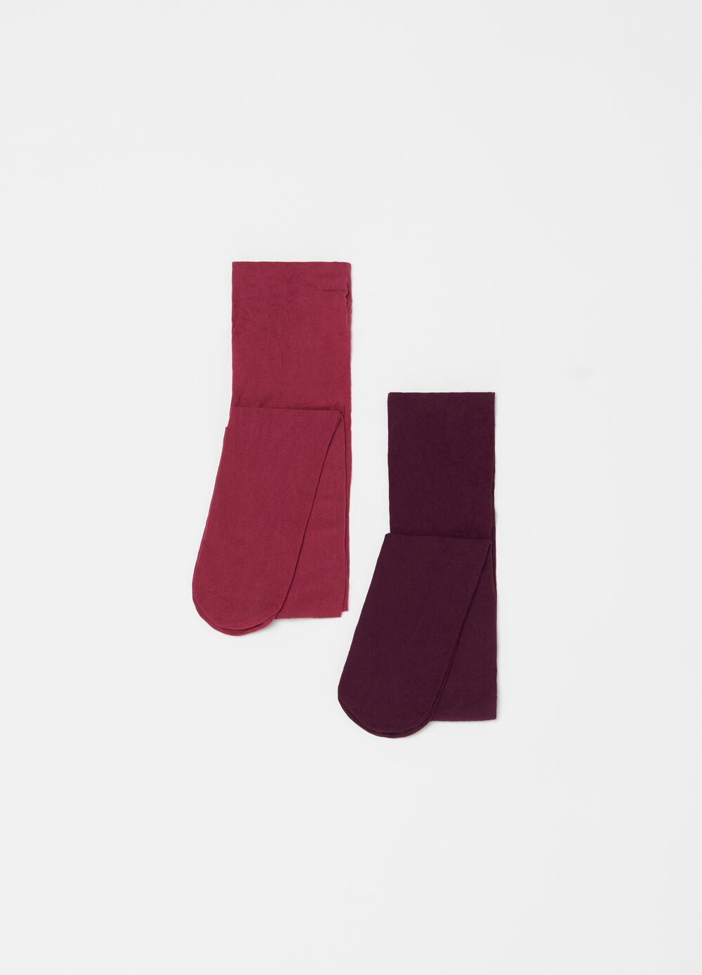 Two-pack solid colour stretch tights