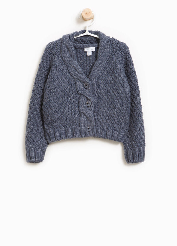 Wool blend pullover with buttons | OVS