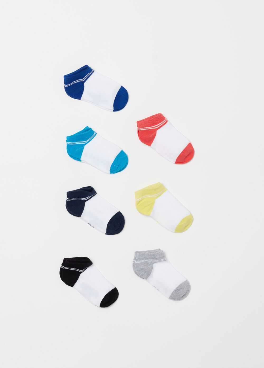 Seven-pack two-tone shoe liners