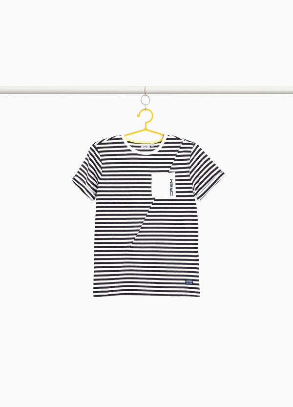 Striped T-shirt in blended cotton