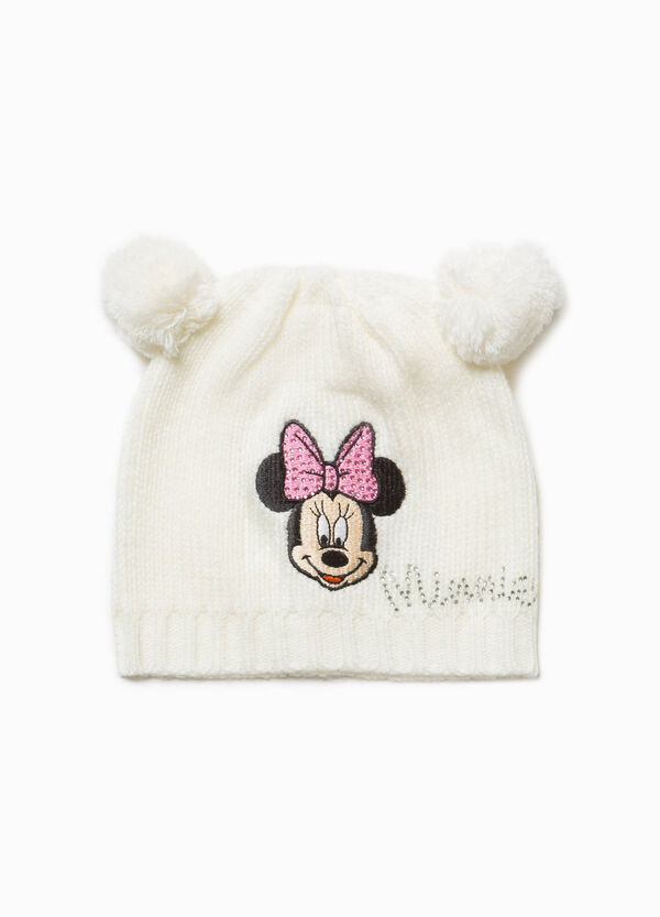 Beanie cap with pompom and embroidery | OVS