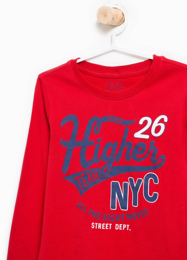 T-shirt con stampa lettering in cotone | OVS
