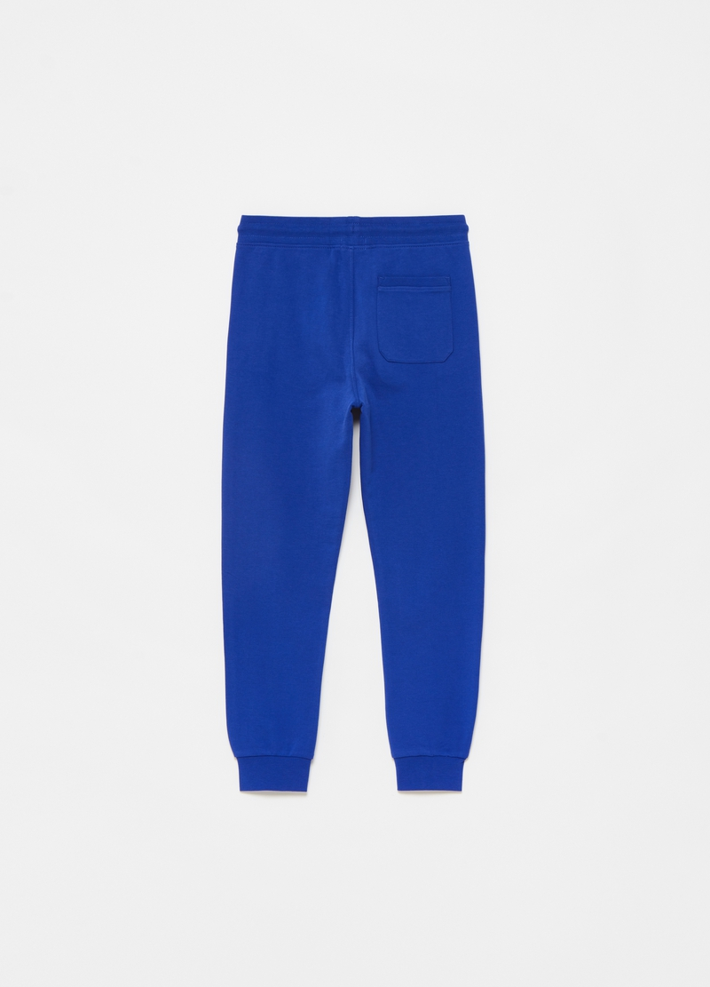 Joggers in 100% cotton with print image number null