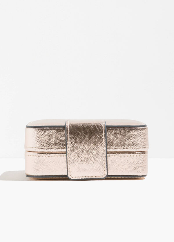Shiny jewellery case with snap button | OVS