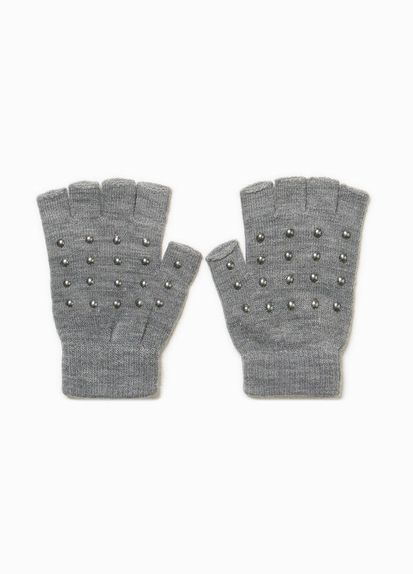 Fingerless gloves with studs | OVS