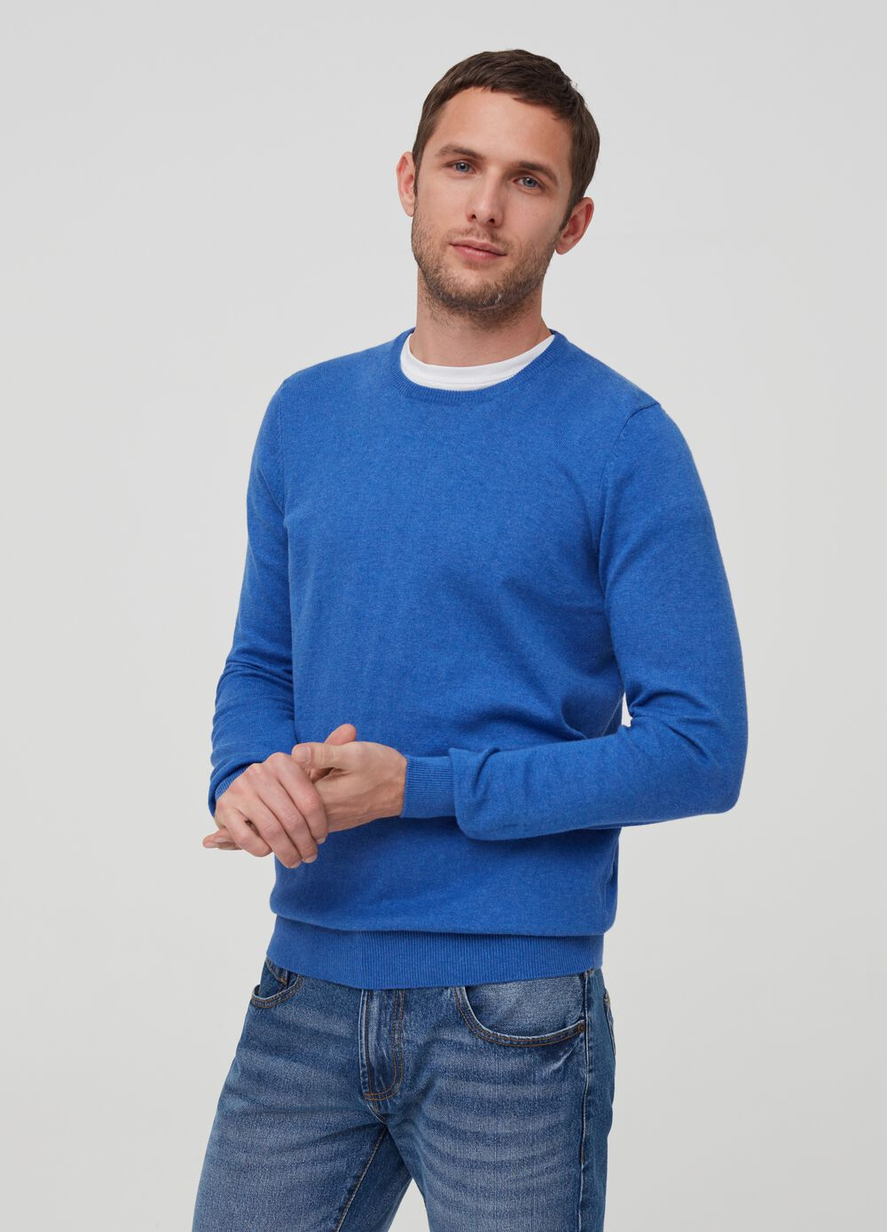 Pullover with round neck