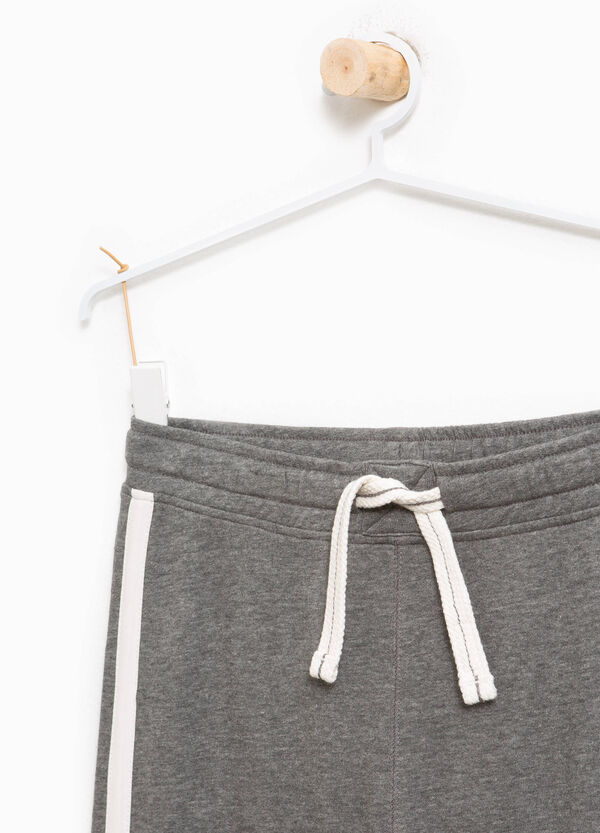 Mélange joggers with inserts | OVS