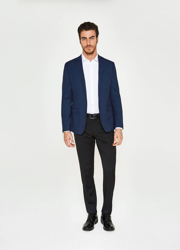Giacca elegante slim fit in viscosa