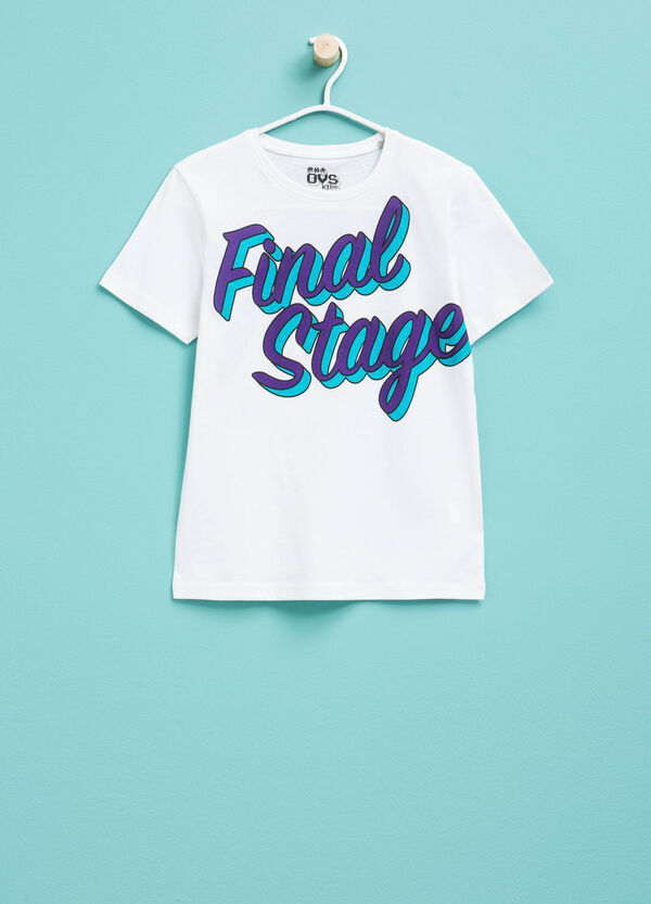 T-shirt with printed lettering | OVS