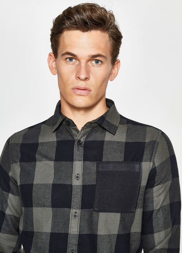 Casual check shirt in cotton