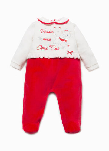 Cotton blend onesie with The Aristocats embroidery