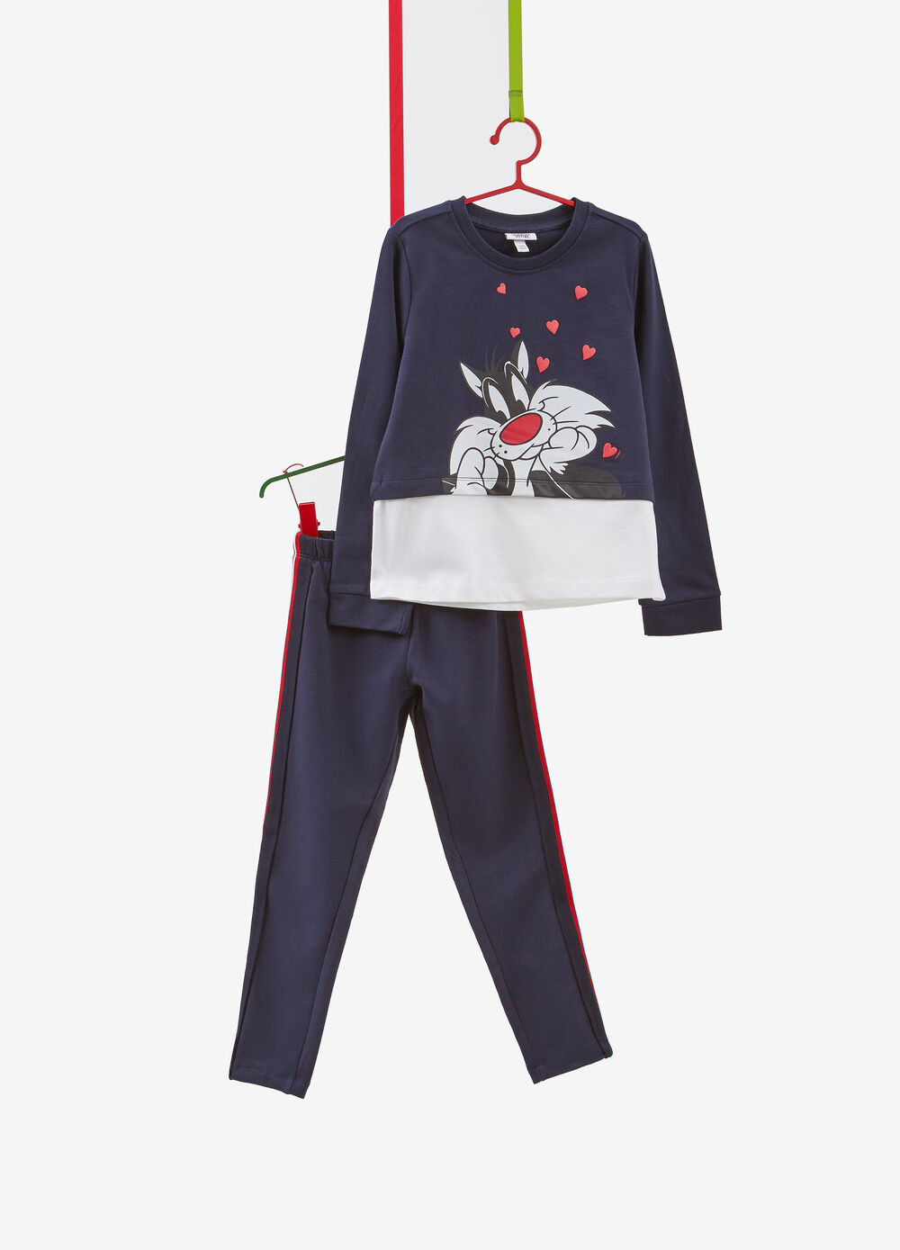 100% cotton tracksuit with Sylvester the Cat print