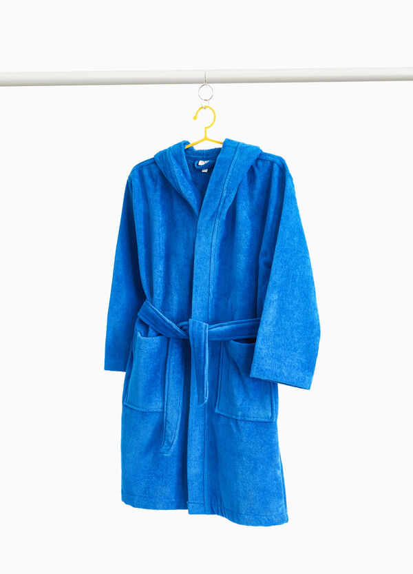 Cotton bathrobe with belt